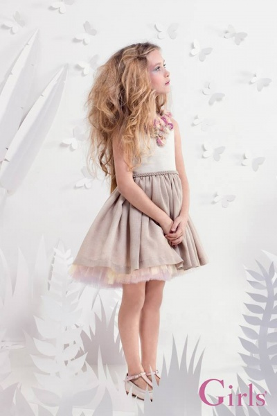 38b2b23f5 vestido de fiesta para nenas primavera verano 2015 16 – Minilook