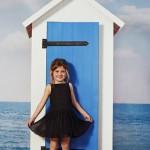 vestido de gasa negro para nenas verano 2016 Paula Cahen D Anvers Niños