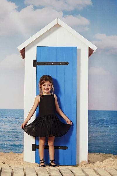 vestido de gasa negro para nenas  verano 2016 - Paula Cahen D Anvers Niños