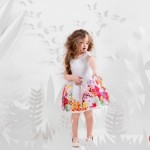 vestido floreada para niña verano 2016