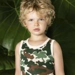 Little Akiabara remera camuflada para chicos verano 2016