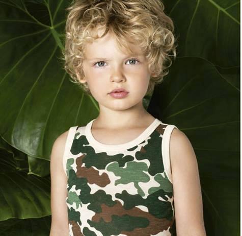Little Akiabara - remera camuflada para chicos verano 2016