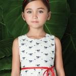 Little Akiabara vestido estampado nena verano 2016