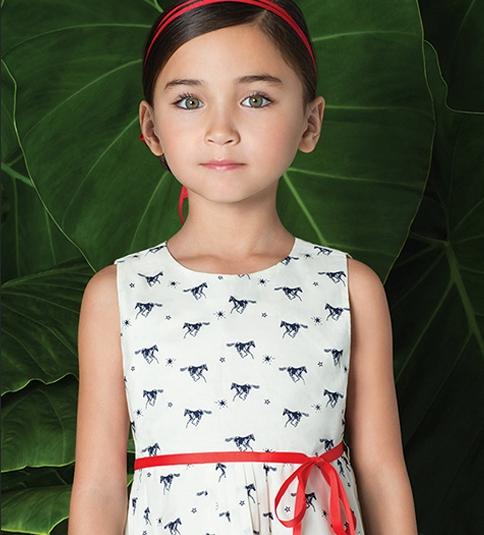 Little Akiabara - vestido estampado nena verano 2016