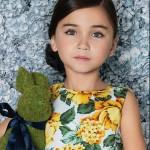 Little Akiabara vestido floreado nena verano 2016