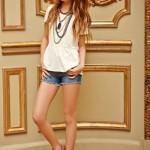 Mapamondo primavera verano 2016 short de jeans nena