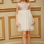 Mapamondo primavera verano 2016 vestido dorada para nenas