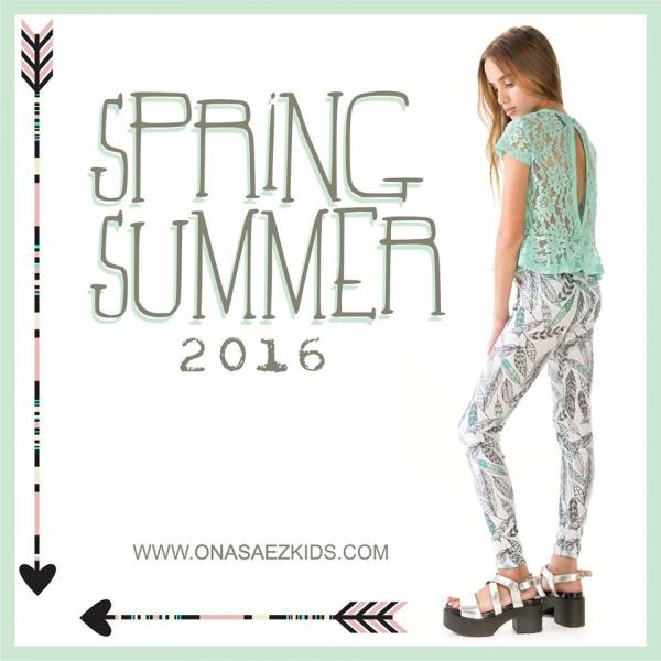 Ona Saez Kids verano 2016 - calza estampada nena