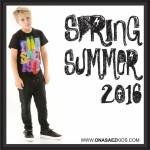 Ona Saez Kids verano 2016 remera con frase para varon