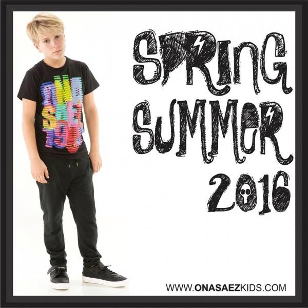 Ona Saez Kids verano 2016 - remera con frase para varon