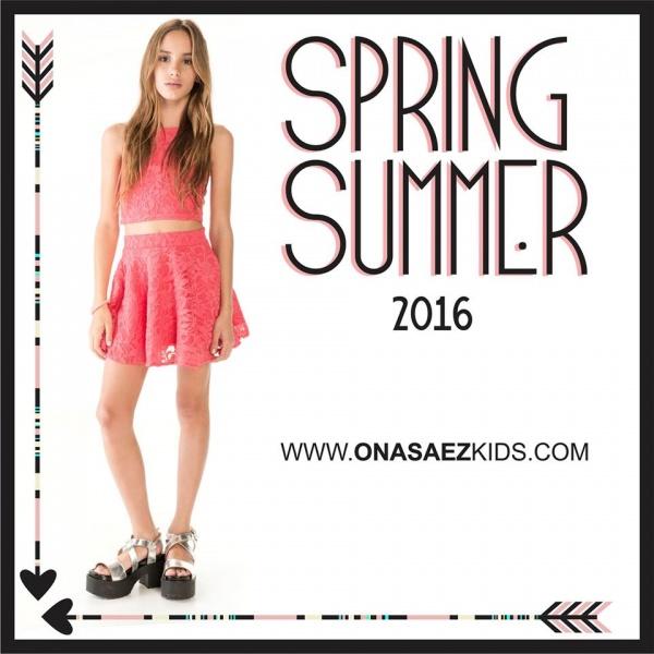 Ona Saez Kids verano 2016 - vestido encaje para niñas