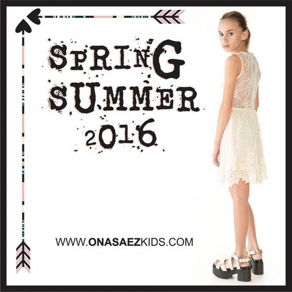 Ona Saez Kids verano 2016 - vestido microtul bordado para nenas