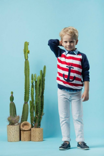 PIOPPA sweater tejido a rayas nene primavera verano 2016