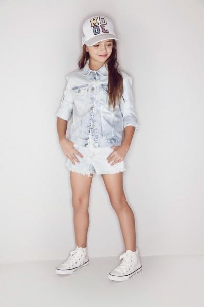 Kosiuko Kids short y campera de jeans para nenas verano 2016