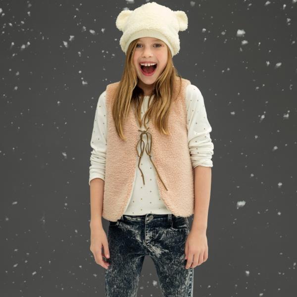 remera mangas largas y chaleco nena Cheeky invierno 2016