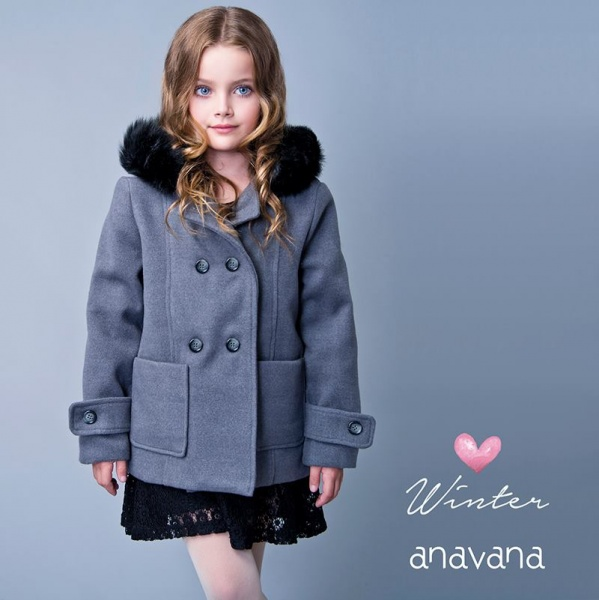 tapado para nenas Anavana - moda nenas invierno 2016