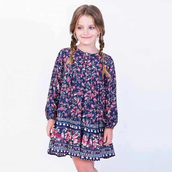 vestido estampado nenas Anavana - moda nenas invierno 2016