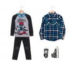 Camisa remera y jeans Grisino ropa para chicos invierno 2016