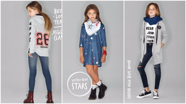 moda para nenas informal nena Kosiuko Kids invierno 2016