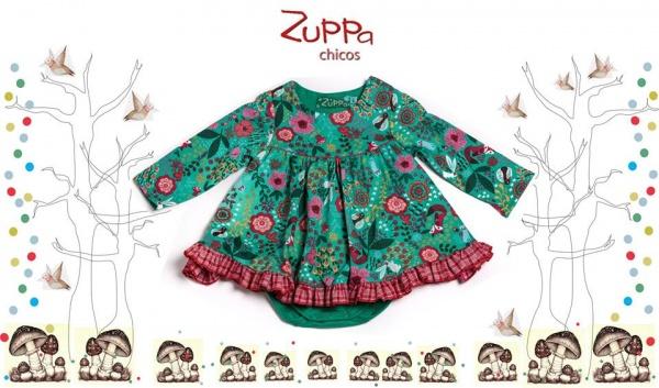 vestido floreado beba  invierno 2016 - ZUPPA CHICOS