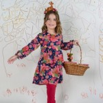 vestido floreado para nenas invierno 2016 ZUPPA CHICOS