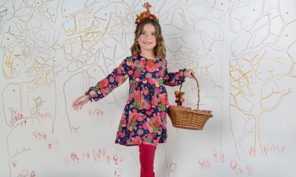 vestido floreado para nenas invierno 2016 - ZUPPA CHICOS