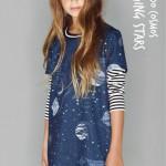 vestido mangas cortas estampado nena Kosiuko Kids invierno 2016