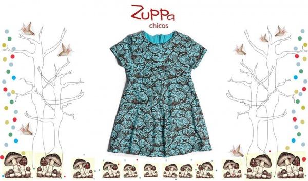 vestido mangas cortas nena  invierno 2016 - ZUPPA CHICOS
