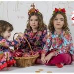 vestidos floreado para bebas y nenas invierno 2016 ZUPPA CHICOS