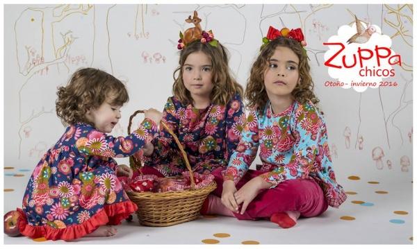 vestidos floreado para bebas y nenas invierno 2016 - ZUPPA CHICOS