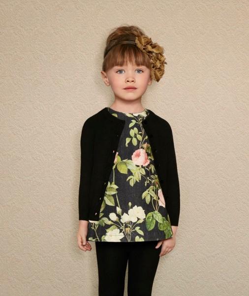 Saco tejido para nena Little Akiabara invierno 2016