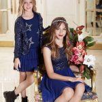 Vestido azul con mangas para nena invierno 2016 Mapamondo