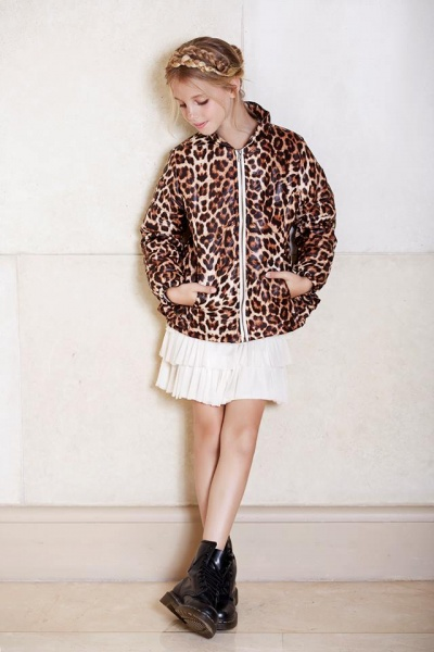 campera animal print nena invierno 2016 - Mapamondo