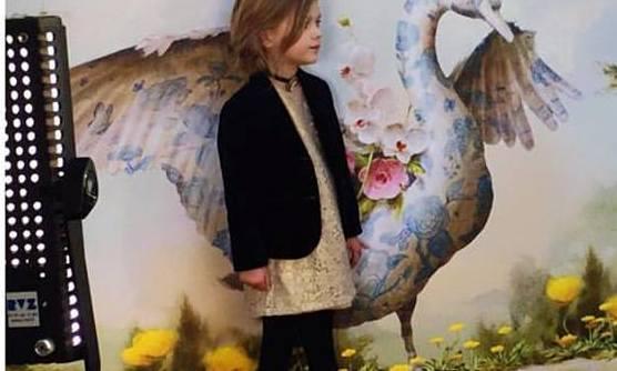 vestido con saco para nena Little Akiabara  invierno 2016