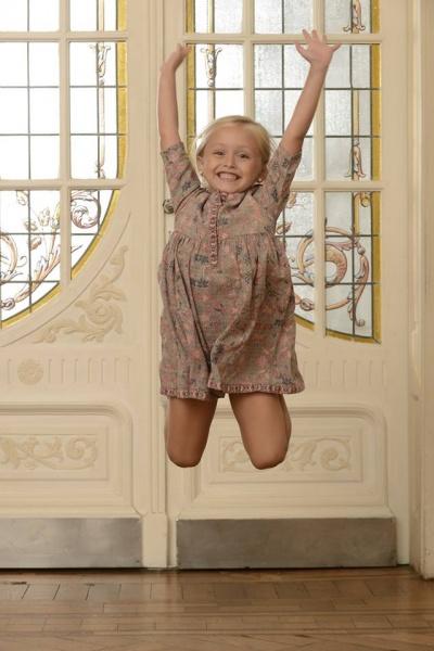 Magdalena Esposito - vestido para nena mangas largas estampados invierno 2016