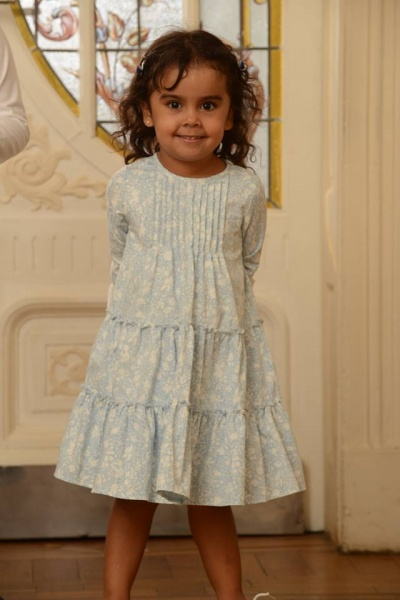 vestido celeste nena Magdalena Esposito invierno 2016