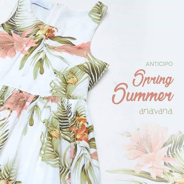 Vestido estampado nenas verano 2017 - Anavana