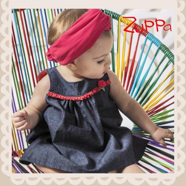 Vestido de jeans para nena verano 2017 - Zuppa Chicos
