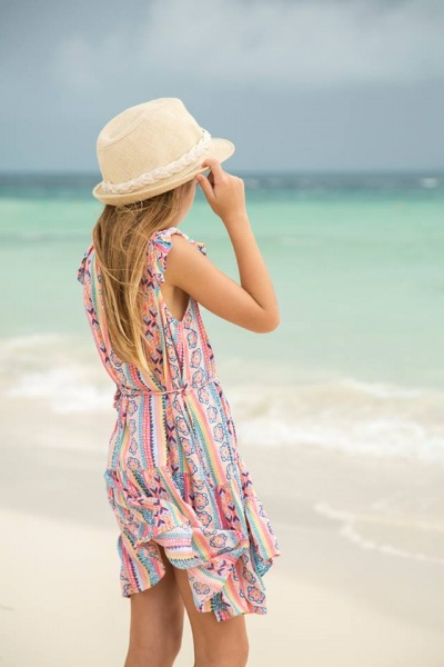 Vestido estampado para nena verano 2017 MIMO CO