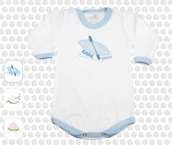 body bebe celeste y blanco moda bebes verano 2017 - Gamise