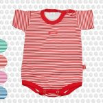 body rojo y blanco moda bebes verano 2017 Gamise