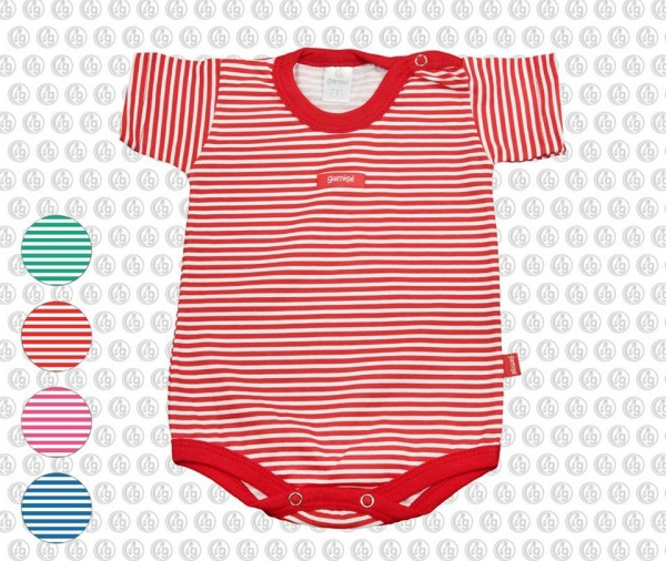 body rojo y blanco moda bebes verano 2017 - Gamise