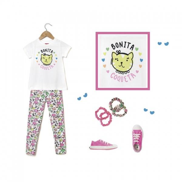 calza y remera para nenas  primavera verano 2017 - Grisino