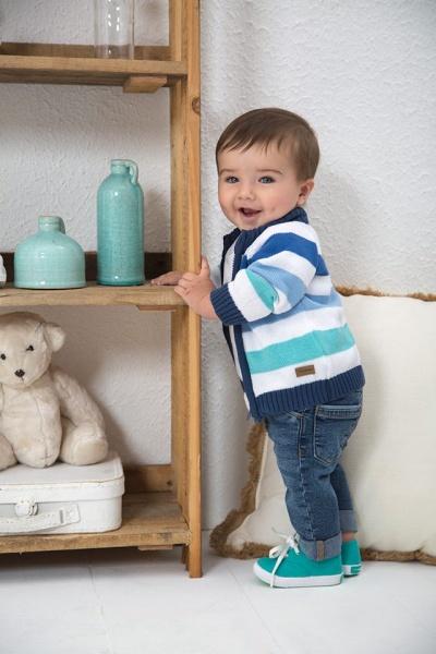 cardigan y jeans bebeb Minimimo primavera verano 2017