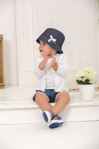 cardingan blanco y short jeans bebe Minimimo primavera verano 2017