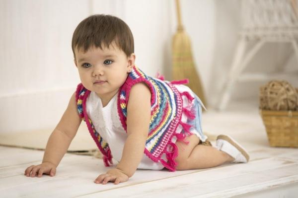 chaleco tejido bebe Minimimo  verano 2017