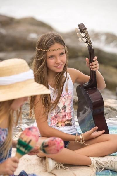 remera para nena con estampa verano 2017 - MIMO CO