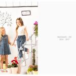 vestido abotonado nena y jeans verano 2017 Nucleo nenas