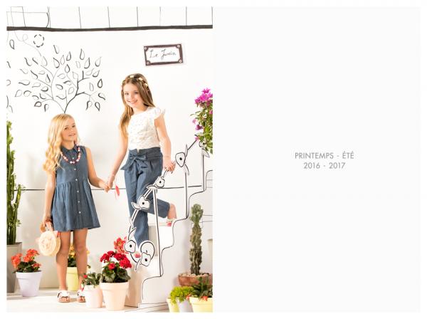 vestido abotonado nena y jeans verano 2017 - Nucleo nenas