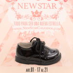 zapato abotinado infantil de charol invierno 2017 New Star